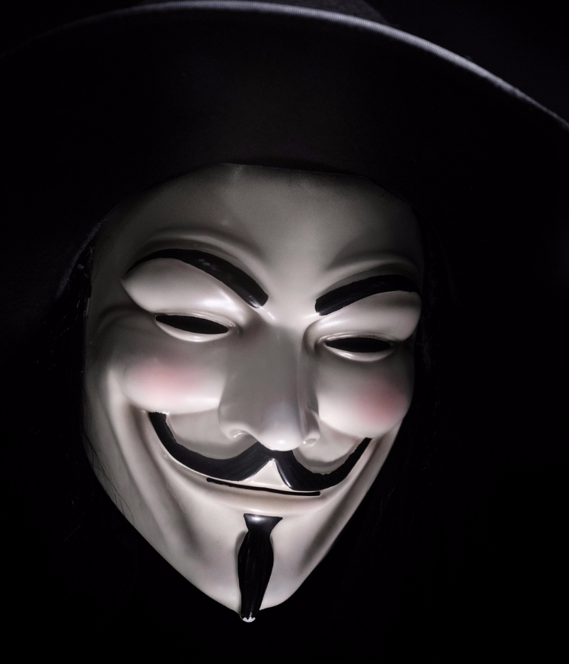social media security hacker anonymous mask