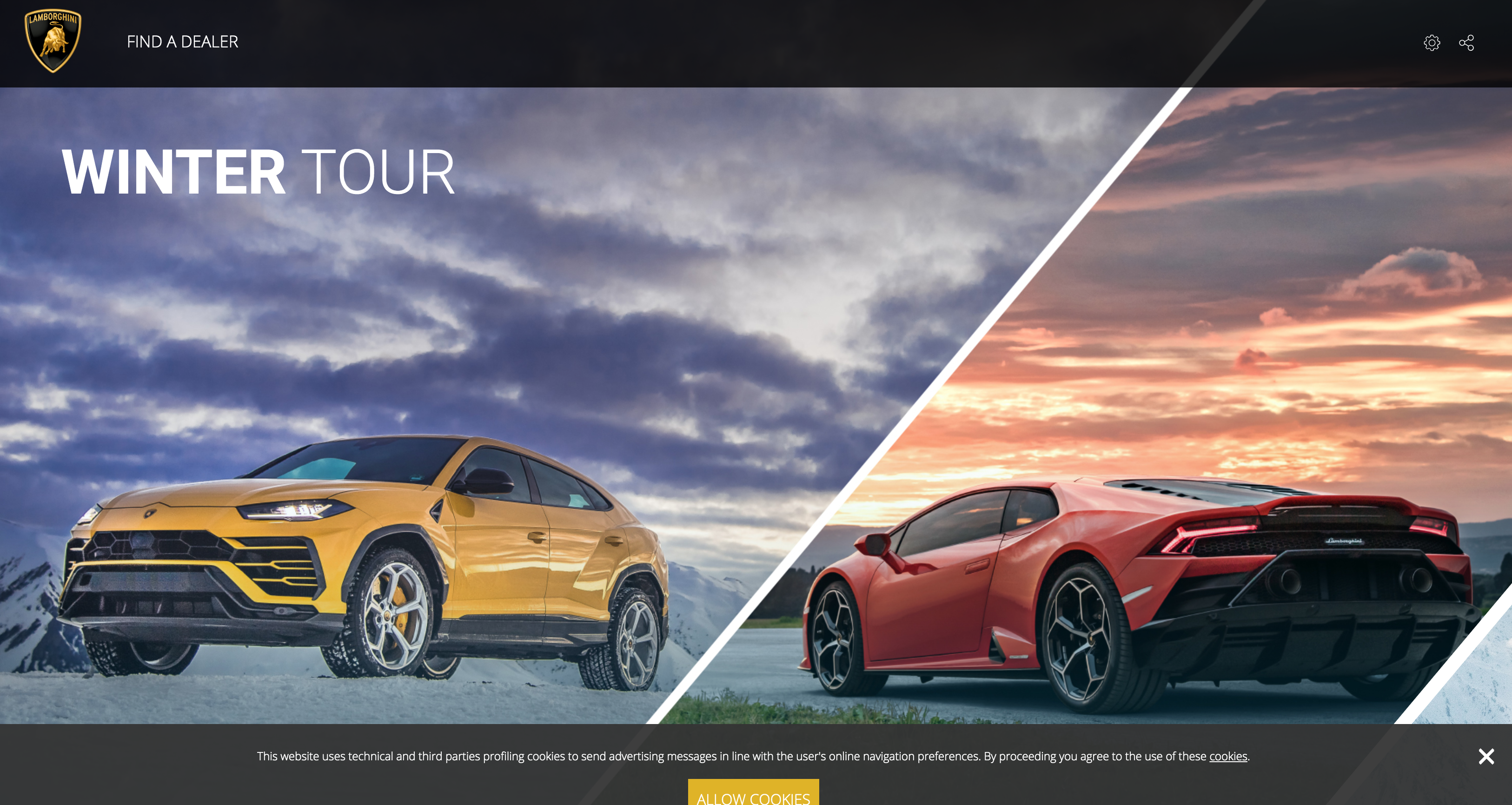 The Italian manufacturer's product launch page