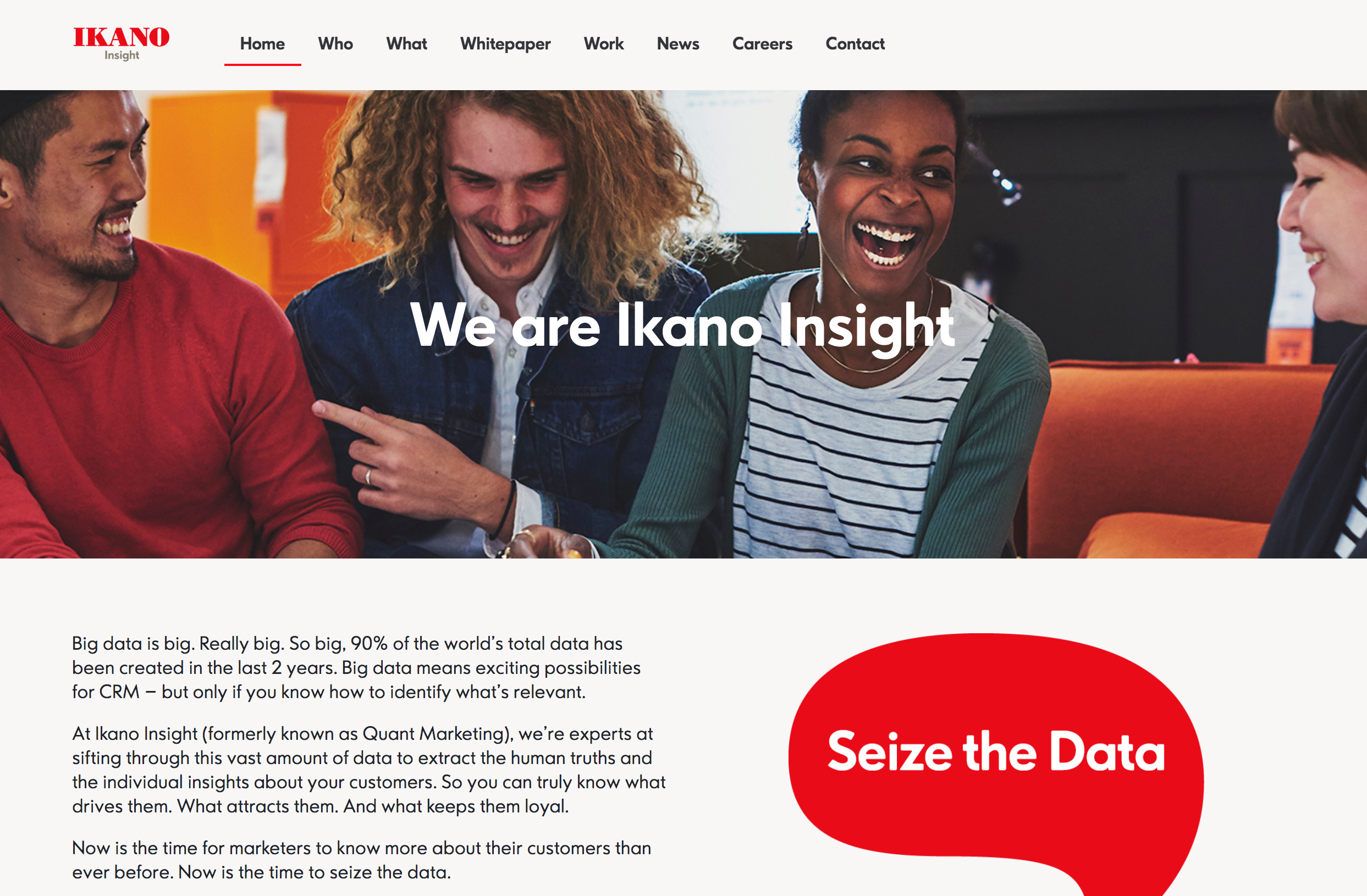 The British data and analystics agency launches their microsite