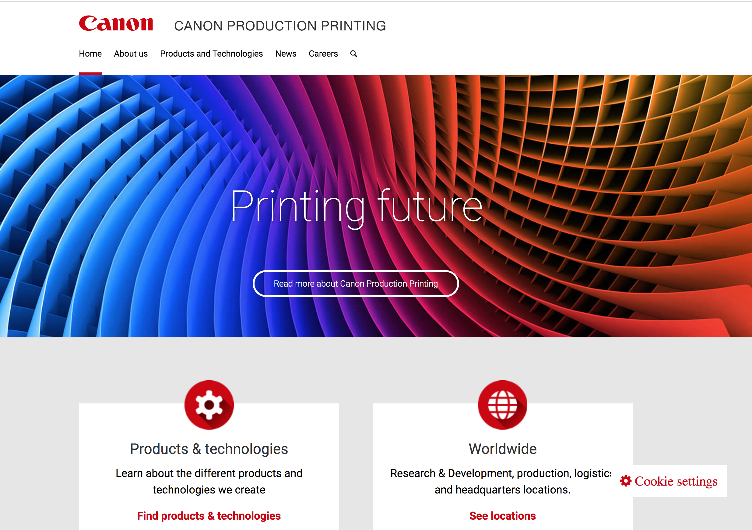 Canon launches their production printing portal on .canon