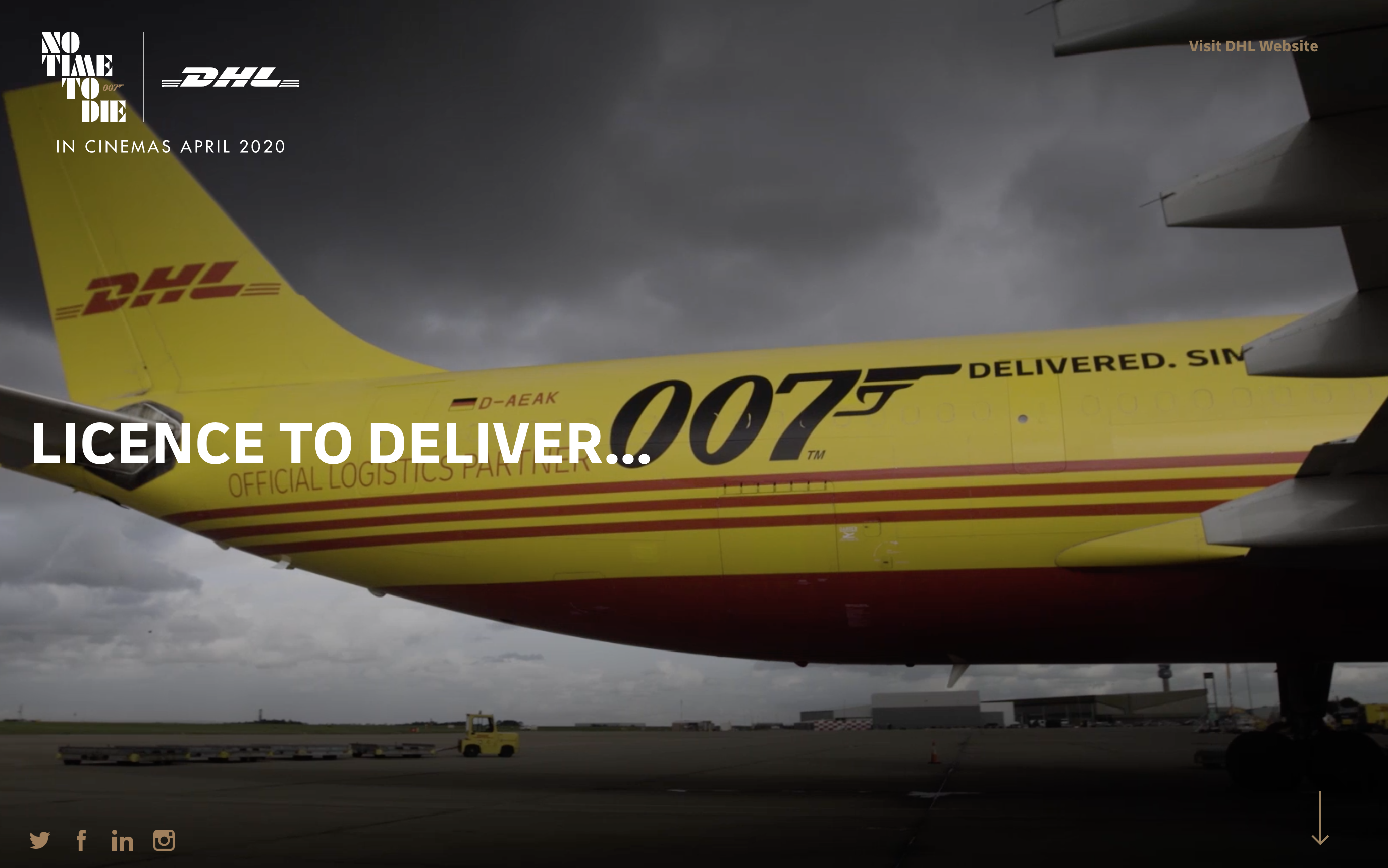 DHL's huge promotion with the new James Bond film in 2020