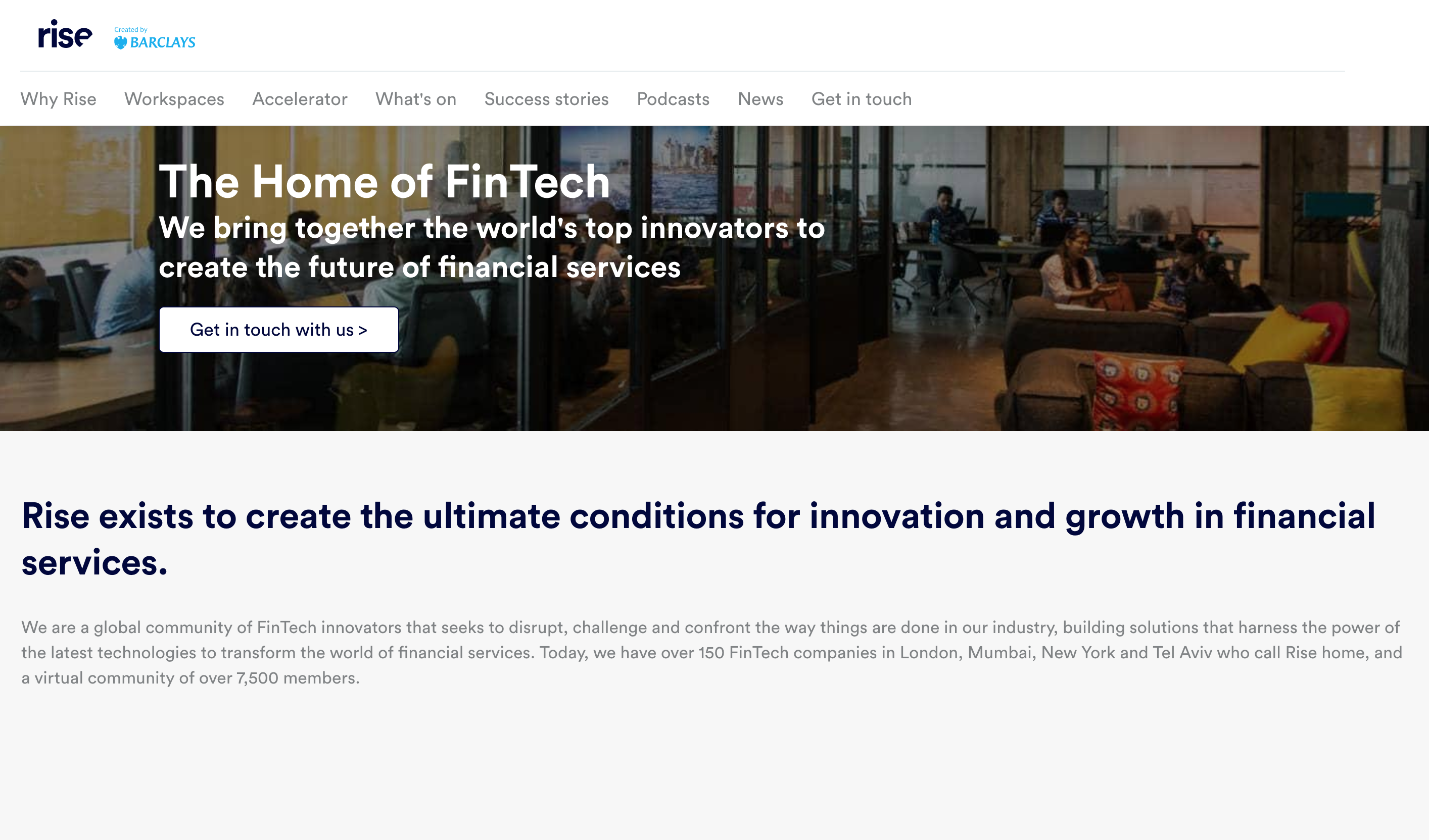 The UK bank's online innovation portal for customers and partners